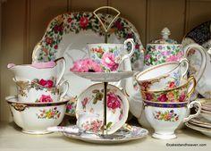 Beautiful vintage English bone china tea services