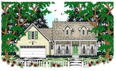 House Plan 79233 | Cape Cod Country Plan with 1573 Sq. Ft., 3 Bedrooms, 2 Bathrooms, 2 Car Garage