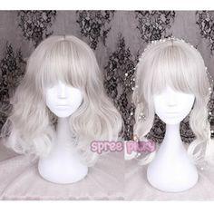 Silvery Grey Lolita Curl Wig SP166825
