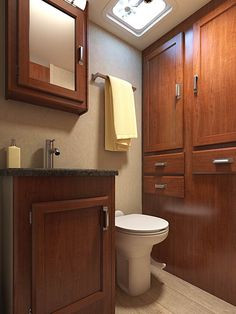 The Lance 1985 Travel Trailer comes with a large bathroom with plenty of storage for all your traveling needs. Travel Trailer Storage, Ultra Lite Travel Trailers, Large Bathrooms, Bath Room, Oasis, Traveling, Gallery, Washroom, Viajes