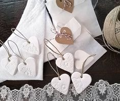 Porcelain Heart Wedding Favours