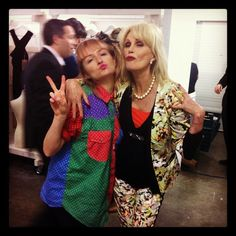 AMY REDMOND AND JOANNA LUMLEY SINK THE PINK