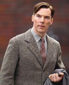 Benedict Cumberbatch in costume for 'The Imitation Game'