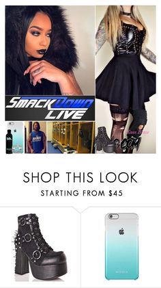"""""""Smackdown Live: Helping Hand"""" by digital-minerva ❤ liked on Polyvore featuring Demonia and WWE"""