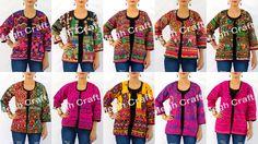 indian traditional wear jacket - kutch vintage embroidery work jacket - village mirror work jacket - rabari glass work jacket - boho hippie patchwork banjara jacket - bohemian lace work tribal jacket - gypsy thread work banjara jacket - gujarat navratri special wear jacket/shrug/koti   BY  #meghcraft #craftnfashion #CraftsOfGujarat #indianethnicjewelry #IndianTraditionalJewelry Megh Craft - Indian Ethnic Jewelry