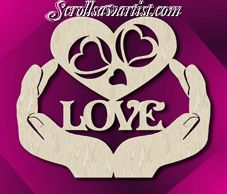 Scroll Saw Patterns :: Special occasions :: Valentine's day & Hearts -