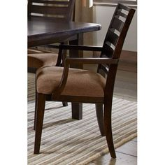 Crystal Ridge Wood Back Arm Chair