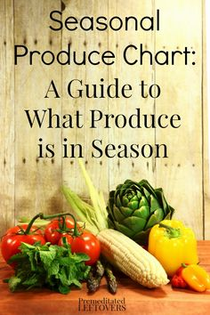 Trying to save money on your grocery budget? Shopping in season is important. Here is a seasonal produce chart and a guide to what produce is in season.