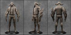 Bodyguard I [Clay Render], Pavee Keawmafai on ArtStation at https://www.artstation.com/artwork/bodyguard-i-clay-render