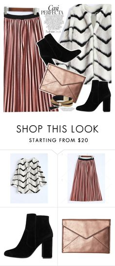 """""""Pleated skirt"""" by vanjazivadinovic ❤ liked on Polyvore featuring MANGO, Rebecca Minkoff, Whiteley, Simons, polyvoreeditorial and twinkledeals"""