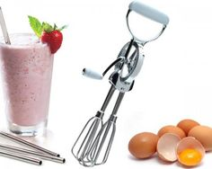 This daily deal for the Premium Stainless Handheld Egg Beater is the best price in Indian online shopping and, just like every product sold on Bhaap.com, is a 100% genuine product. It has the following specifications:  Type: Egg Beater Material: Stainless steel blades, Plastic Handles Quantity: 1 Warranty: Full manufacturer warranty