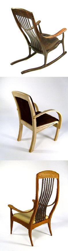 """234. John Moldovan: """"New pieces I plan to be available at the show."""" www.jmoldovan.com      John Moldovan Fort Mason, Wood Working For Beginners, Rocking Chair, Woodworking Plans, San Francisco, Crafty, How To Plan, Projects, Decor"""
