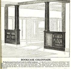 1921 bookcase colonnade from Sears