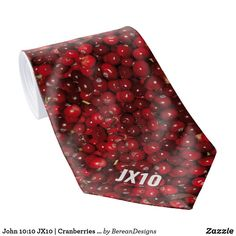 John 10:10 JX10 | Cranberries | Monogram Neck Tie Fall Home Decor, Autumn Home, Autumn Fall, Custom Ties, Unique Image, Cranberries, Floral Tie, Keep It Cleaner, Holiday Cards