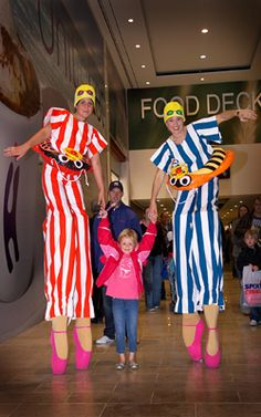 Luci's Quirky Characters - Stilt Walkers