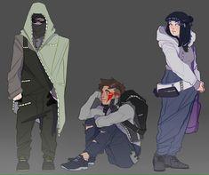 Shino, Kiba e Hinata Naruto Uzumaki, Anime Naruto, Naruto Fan Art, Naruhina, Naruto Oc, Naruto Girls, Shikamaru, Gaara, Hinata Hyuga
