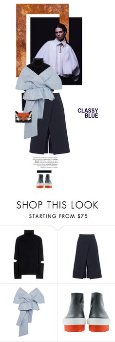 """""""Classy blue"""" by juhh ❤ liked on Polyvore featuring Public School, TIBI and Delpozo"""
