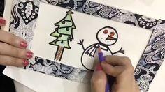 Modelos de Cartões de Natal  Se você está atras de um post com diferentes modelos sem cartões de Natal chegou ao lugar certo.    Esse outro modelo você vai precisar de:  Papel colorido cola um pedaço de plástico duro (estilo acetato) canetinha permanente  Acesse o site http://ift.tt/1oBoEWj e veja mais modelos