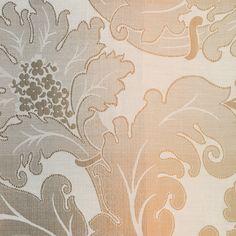 ANICHINI Fabrics | Marte Terra Cotta Residential Fabric - an orange floral jacquard fabric