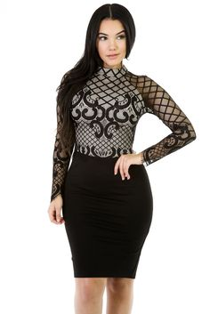 €16.45 @Modebuy #modebuy  Robes Bodycon Manches Longues Noir Maille Romances Femme #likeall #tbt #sexy #commenting #follows #liker #france #pink #commentall #Rose #followher #outfit #f4f