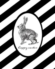 FREE Black and White Easter Printable