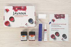 Kreul 91993 - Javana Farbblockieren auf Stoff - Set