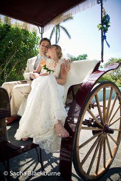 Traditional Bermuda horse & buggy carriage ride.  Photos by Sacha Blackburne.