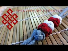 How to Make a Paracord Cross Knot Bracelet Tutorial - YouTube