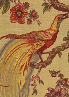 """Olana Spice:Olana Spice by Waverly Fabrics. #664773 Width: 54"""" Repeat: 13.5""""H x 32""""V Mary's sample"""