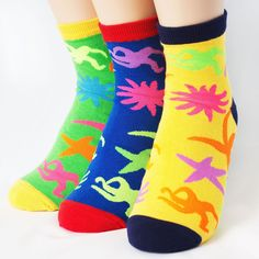 FLUORESCENCE STARFISH SOCKS 3PAIRS=1PACK Made in KOREA women woman girl big kids #COLORMIX #allStyle