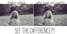 before and after of using brushes and vignettes in Lightroom. Editing tutorial AND video from #twoblooms