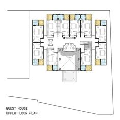 "195 Likes, 1 Comments - @idedenahrumah on Instagram: ""  GUEST HOUSE - UPPER FLOOR PLAN   . . #denah #arsitek #idedesain #architect #floorplan…"""