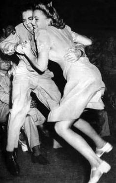 Jitterbug c.1940s. I love old photos because of this: Even though people dress different ways based on where they are in time and space, we all experience the same emotions and think about the same big things.