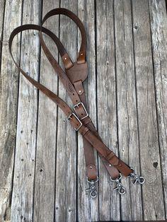 Leather Suspenders.  #leathercraft #fashion #mensfashion #handmade #propergentleman