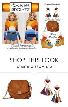 """Summer Brights - The Rainbow Connection"" by latoyacl ❤ liked on Polyvore featuring Gabriella Rocha, MANGO and Stoned Immaculate"