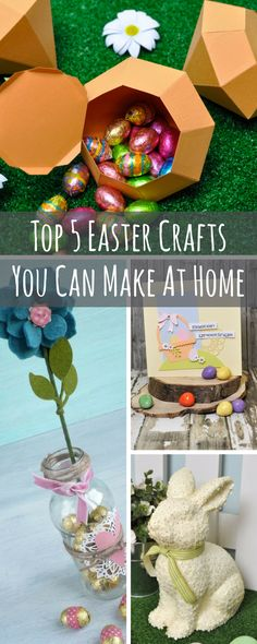 How to create an easy mason jar for easter alles aus papier top 5 diy easter crafts you can easily make at home cardmaking easter crafts negle Image collections