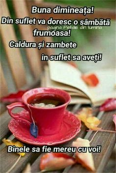 Pin by Dana Popovici on Cafea Happy Good Morning Quotes, Good Morning Cards, Good Morning Images, Cheer Someone Up, Lucky Day, Months In A Year, Happy Weekend, Happy Thoughts, Spiritual Quotes