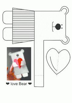 Ayı Kalıbı. Bear Printables. Molde del soportar. нести.