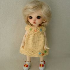 Buttercup Knitted Summer Dress for Pukifee and Lati от myfairdolly