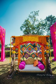 Mehendi decor - swing for the bride# photobooth Desi Wedding Decor, Marriage Decoration, Wedding Stage Decorations, Flower Decorations, Backdrop Decorations, Wedding Ideas, Mehendi Decor Ideas, Mehndi Decor, Mehndi Ceremony