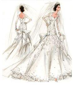 Kate Middleton's wedding dress...as imagined by Mad Men designer Janie Bryant #wedding #vintage