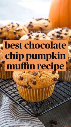Fun Baking Recipes, Muffin Recipes, Cooking Recipes, Pumpkin Recipes, Fall Recipes, Sweet Recipes, Easy Yummy Recipes, Fun Desserts, Delicious Desserts