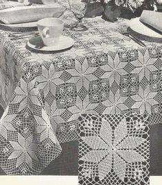 Best 12 Creative Image of Crochet Tablecloth Pattern Crochet Tablecloth Pattern Pdf Crochet Tablecloth Pattern Small Square Or Large Rectangle Etsy Thread Crochet, Filet Crochet, Crochet Motif, Crochet Doilies, Hand Crochet, Vintage Crochet Patterns, Afghan Crochet Patterns, Crochet Squares, Crochet Tablecloth Pattern
