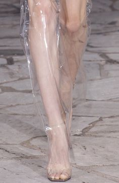Loewe SS 2016  add plastic fabric (pick it up at Joanne's or any regular fabric store) to a pair of knee length shorts or capris.