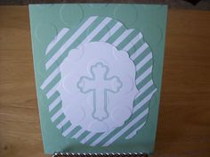 Striped  Cross Circles  Handmade Greeting by janzcardsandgifts
