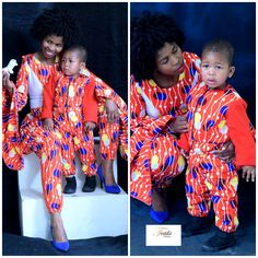 Mother and son matching outfits Matching Outfits, Vera Bradley Backpack, African Fashion, Prints, Bags, Handbags, African Wear, Couple Outfits, Bag