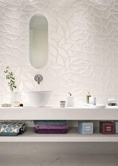 Bathroom tiles: ceramic and porcelain stoneware - Marazzi 6685 Living Room Tiles, Tiles, Wall Tiles Living Room, Round Mirror Bathroom, Bathroom, Bathroom Flooring, Bathroom Decor, Bathroom Inspiration, Tile Bathroom