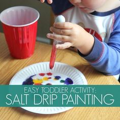Toddler Approved!: Color Play: Salt Drip Painting