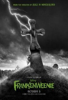"Walt Disney Pictures has just revealed the movie poster for Tim Burton's movie ""Frankenweenie."" The stop-motion movie will arrive in theaters on October 2012 . Beau Film, Winona Ryder, Film Disney, Disney Movies, Atticus, Stop Motion, Film Tim Burton, Black, Animation Movies"