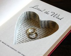heart shaped carving hollow book safe ''listen  by pommesfrites, $30.00